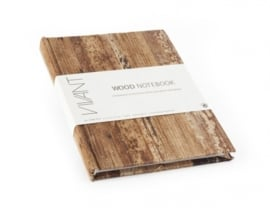 CE295590/1574- houten notebook 21x15cm bruin