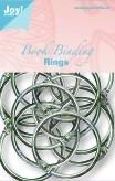 JOY6200/0123- 12 stuks boekbinders-ringen van 45mm zilver