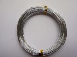 CH.20- 20 meter aluminiumdraad (Wire&Wire draad) van 1mm dik zilverkleur