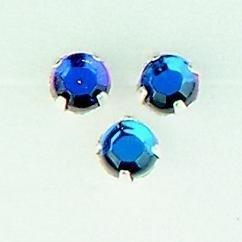 107007/0052- 12 stuks glazen rijg/naai strass steentjes 7mm rond kristal vulcano AB