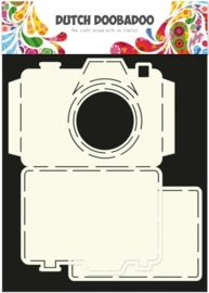 CE185071/3520- Dutch Doobadoo Dutch card art stencil camera A4