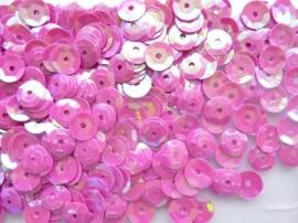 118372/480- 10gram facon pailletten van 8mm in parelmoer fuchsia (grote hoeveelheid!)
