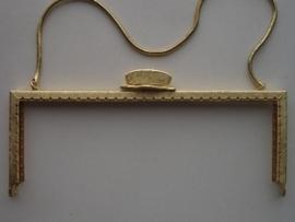 32- tasbeugel met ketting 18cm goud
