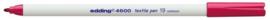 CE394600/0019- edding-4600 textielpen 1mm karmijn