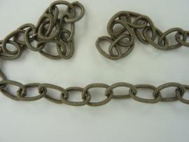 12223-2324- 50cm silky ketting jasseron grijs met schakels 11x15mm