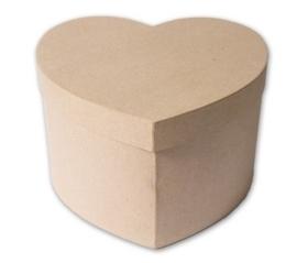 1929 2951- eco shape stevige decoratie hartvormige doos van papier mache 26x27x17cm