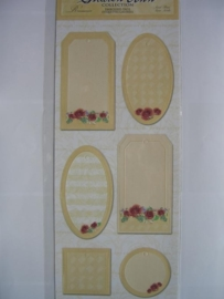 5088- labels met embossing 30x13cm Sharon Ann collection