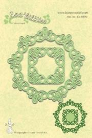 CE115645/9890- Le Crea Lea'bilitie frame round lace snij- & embossingmal