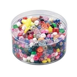 2281 931- 170 gram kralenmix diversen bonte kleuren van 7-9mm