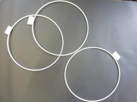 wit gelakte metalen dichte ring van 20cm doorsnee - 6770 207