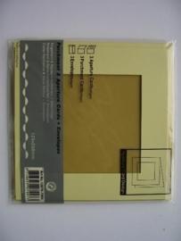 0000110- 3 x vierkanten kaarten met enveloppen
