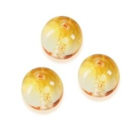 2219 525- 7 stuks glaskralen bohemisch oranje van 12mm in een doosje