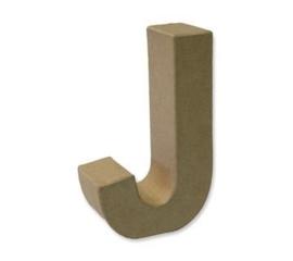1929 3110- stevige decoratie letter van papier mache - 3D letter J
