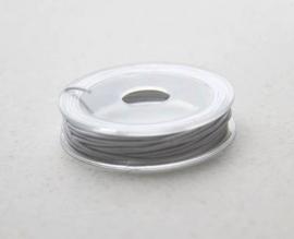 CE430302/2603- 5 meter elastisch koord van 1mm dik wit