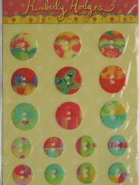 5134- 3D stickers knopen 15x12cm K&CO
