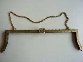 47- tasbeugel met ketting 33.5cm bronskleur