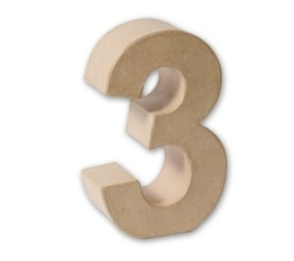 1929 3133- eco shape stevige decoratie cijfer van papier mache - 3D cijfer 3
