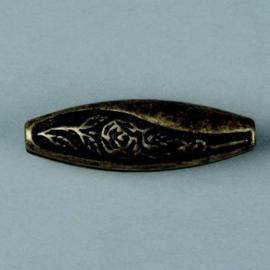 metalen kraal antiek goud 34x10mm 117465/2626