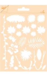 6002/0851 - Joy! crafts embossing achtergrondstencil poly-besa  - oerwoud