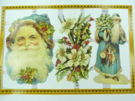 """p0015044- nostalgisch pöezie plaatje """"kerst"""" 24x15cm"""