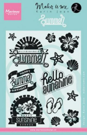 vakantie clear stamps