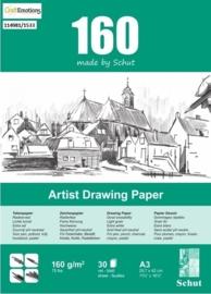 CE114981/1533- 30 vel Schut artist drawing paper 160grams A3 tekenpapier