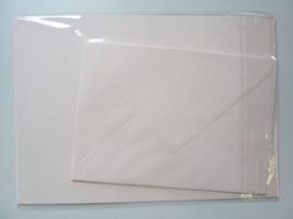 008213- 3 x A4 formaat kaarten gerild + 3 x enveloppen A5 formaat zalm OPRUIMING -50%