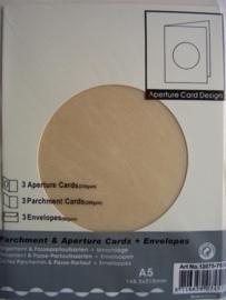 000121- 3 x standaard formaat dubbele kaarten + enveloppen