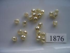 20 stuks tsjechische kristal facet geslepen glaskralen geel/creme parelmoer 6mm  1876