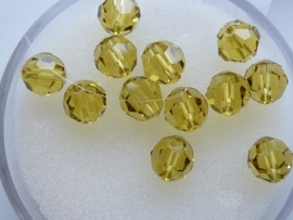 109206/0190- 12 x swarovski kristal kralen rond 6mm lemon yellow
