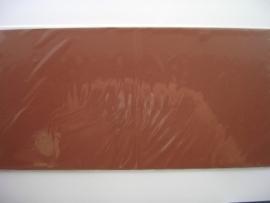 08161- 5 x luxe vierkanten kaarten linnenstructuur 13.5x13.5cm donker bruin SPECIALE AANBIEDING