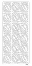 st929- stickervel met sierhoeken zilver 10x23cm  -  121001/1224