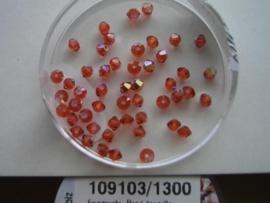 109103/1300- 50 x swarovski kralen 3mm indiaans rood AB