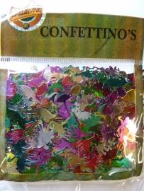 003026- groot aantal confetti dieren figuurtjes