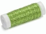 KN6482 965- 50 meter bouillon effect metaaldraad  groen 0.25mm dik