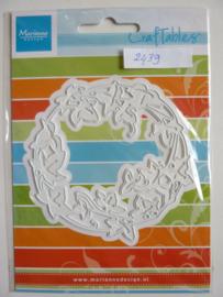 0002439- Marianne Design Craftables stencil bloemencirkel 9cm - OPRUIMING