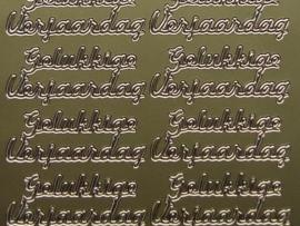 st265- gelukkige verjaardag goud 10x20cm