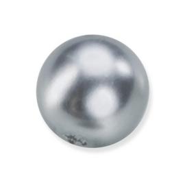 25 x ronde glasparels in een doosje 8mm zilver - 2219 775