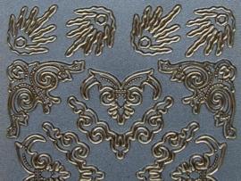 st578- prachtige parelmoer sticker hoekjes 10x20cm