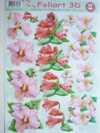 kn/449- A4 knipvel AANBIEDING foli art no.554 bloemen