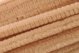 8476 535- 10 stuks chenille draad van 50cm lang en 8mm breed zand