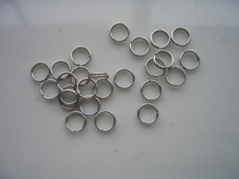 24 x dubbele ringetjes 6mm staal