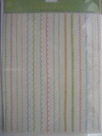 5487- K&Co Brenda Walton rub-ons met krasstokje randjes A4 formaat