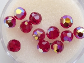 109206/1330- 12 x swarovski kristal kralen rond 6mm siam AB