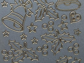 st580- prachtige parelmoer sticker kerst 10x20cm
