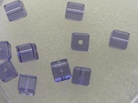 109314/0380- 10 x swarovski cube 4x4mm tanzanite