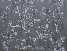st 698- vogelverschrikker zilver