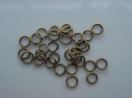 CH 030 .30 -  30 stuks enkele ringetjes 3.5mm bronskleur