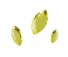 2282 510- 120 x kunststof strass stenen assortiment spitsovaal 10/15/20mm lang geel
