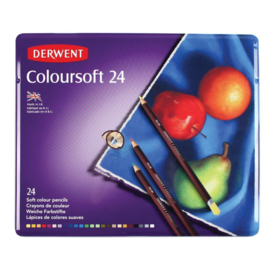 CE325006/0024- Derwent coloursoft pencil 24st blik